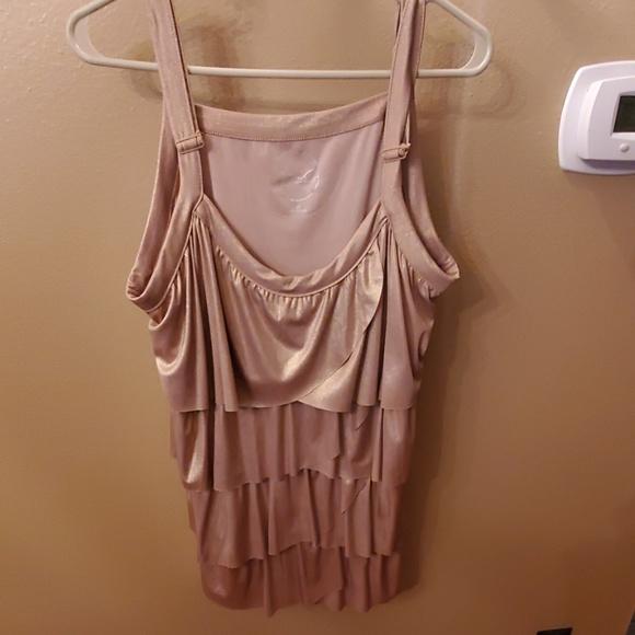 INC International Concepts Tops - Dress sleeveless gold layered top. HOST PICK🎆